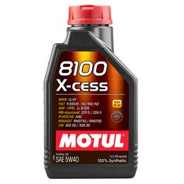 Масло моторное 5W40 MOTUL 1л синтетика 8100 X-cess A3/B4