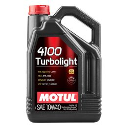 Масло моторное 10W40 MOTUL 4л полусинтетика 4100 Turbolight MB/Renault/VW A3/B4