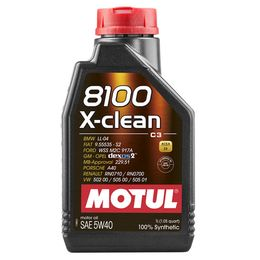 Масло моторное 5W40 MOTUL 1л синтетика 8100 X-clean C3