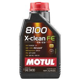 Масло моторное 5W30 MOTUL 1л синтетика 8100 X-Clean FE С2/C3