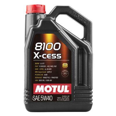 Масло моторное 5W40 MOTUL 5л синтетика 8100 X-cess A3/B4