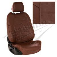 Авточехлы HONDA CIVIC IX 2012- SEDAN, экокожа, тёмно-коричневый/тёмно-коричневый