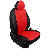 Чехлы на сиденья для  HYUNDAI TUCSON III 2015-, Ромб Чёрный + Красный