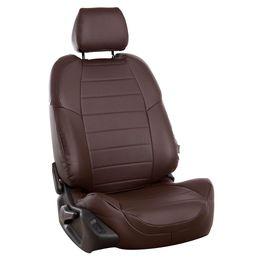 Авточехлы AUDI A1 2010- HATCHBACK 5 дверей, экокожа, шоколад/шоколад