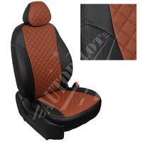 Авточехлы KIA CEED II 2012- HATCHBACK 3 двери, экокожа, вставка ромб, чёрный/коричневый