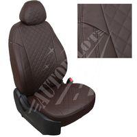 Авточехлы FORD ECOSPORT 2014-, экокожа, вставка ромб, шоколад/шоколад