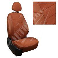 Чехлы на сиденья для  HYUNDAI GETZ GL 2002-2011 заднее сидение сплошное, Алькантара Коричневый + Коричневый