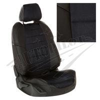 Чехлы на сиденья для  MAZDA 6 2012- СЕДАН, Алькантара Чёрный + Чёрный