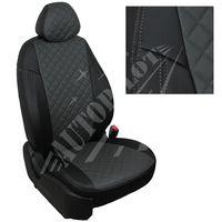 Авточехлы OPEL ASTRA J 2011- WAGON, экокожа, вставка ромб, чёрный/тёмно-серый