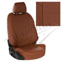 Авточехлы OPEL ASTRA H 2004- WAGON, экокожа, коричневый/коричневый