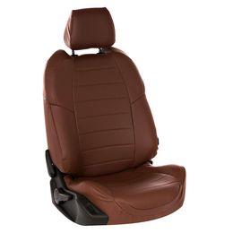 Авточехлы AUDI A3 8V 2013- SEDAN, HATCHBACK, экокожа, тёмно-коричневый/тёмно-коричневый
