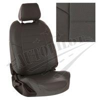 Авточехлы HYUNDAI SANTA FE III 2012-, экокожа, тёмно-серый/тёмно-серый