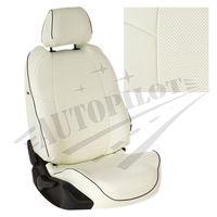 Авточехлы OPEL VECTRA C 2002-2008 SEDAN, экокожа, белый/белый