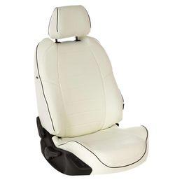 Авточехлы AUDI A1 2010- HATCHBACK 5 дверей, экокожа, белый/белый