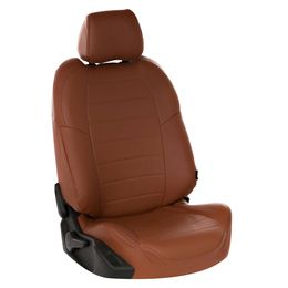 Авточехлы AUDI A1 2010- HATCHBACK 5 дверей, Экокожа, коричневый/коричневый