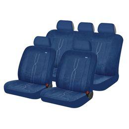 Чехлы на сиденья алькантара «LEADER», синий, универсальные, 10410