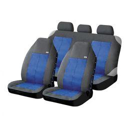 Чехлы на сиденья водоотталкивающая ткань «EXPLORER», чёрный/синий, универсальные, 10305
