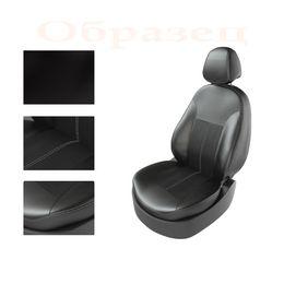 Авточехлы NISSAN ALMERA 2013- задняя спинка раздельная, чёрный/чёрный/серый