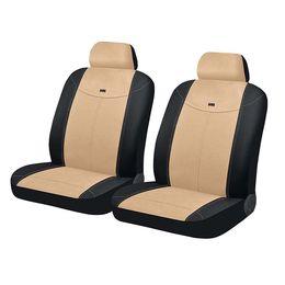 Чехлы на сиденья алькантара «ALCANTARA FRONT», чёрный/бежевый/бежевый, универсальные, 10550