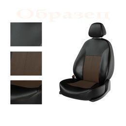 Авточехлы CHERY TIGGO 2 2014- crossover задняя спинка сплошная, чёрный/коричневый/коричневый