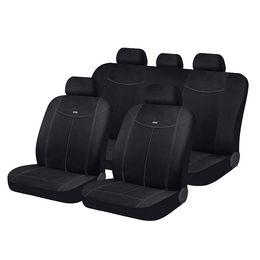 Чехлы на сиденья алькантара «ALCANTARA», чёрный/чёрный/тёмно-серый, универсальные, 10555