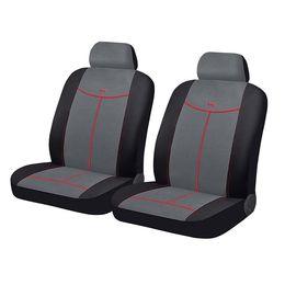Чехлы на сиденья алькантара «ALCANTARA FRONT», чёрный/серый/красный, универсальные, 10553