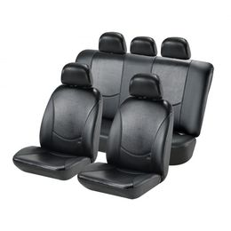 Чехлы на сиденья искусственная кожа «COBRA», чёрный/чёрный, универсальные, 10244