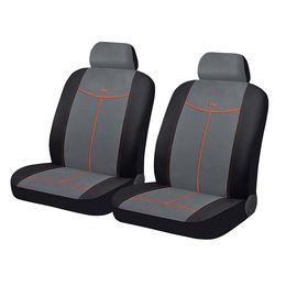 Чехлы на сиденья алькантара «ALCANTARA FRONT», чёрный/серый/оранжевый, универсальные, 10554