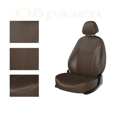 Авточехлы KIA RIO IV 2011- SEDAN задняя спинка раздельная, коричневый/коричневый/коричневый