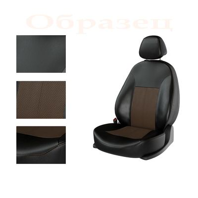 Авточехлы UAZ PATRIOT 2008-2014, чёрный/коричневый/коричневый