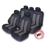 Чехлы на сиденья оригинальная автомобильная ткань HYUNDAI SOLARIS HATCHBACK, чёрный/серый, 60002