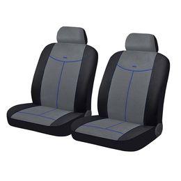 Чехлы на сиденья алькантара «ALCANTARA FRONT», чёрный/серый/синий, универсальные, 10551