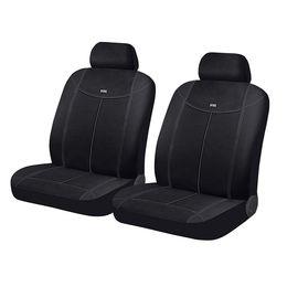 Чехлы на сиденья алькантара «ALCANTARA FRONT», чёрный/чёрный/тёмно-серый, универсальные, 10549