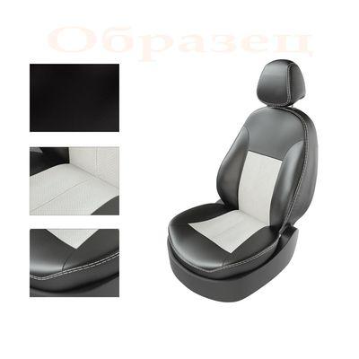 Авточехлы KIA RIO IV 2011- SEDAN задняя спинка раздельная, чёрный/белый/белый