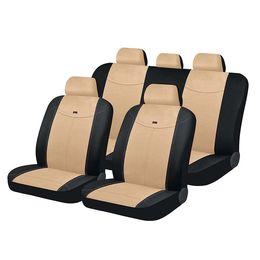 Чехлы на сиденья алькантара «ALCANTARA», чёрный/бежевый/бежевый, универсальные, 10556