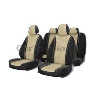 Чехлы на автомобильные сиденья COMFORT комплект, велюр букле, бежевый, чёрный