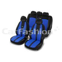 Чехлы на автомобильные сиденья MAJOR комплект, экокожа/жаккард, синий, чёрный, синий, чёрный