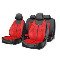 Чехлы на автомобильные сиденья MUSTANG комплект, экокожа, красный, чёрный, красный