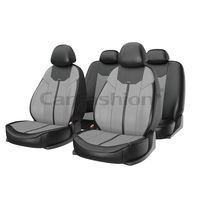 Чехлы на автомобильные сиденья MUSTANG комплект, экокожа, серый, чёрный, серый