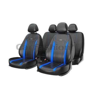 Чехлы на автомобильные сиденья TILTAN комплект, экокожа, чёрный, синий, синий