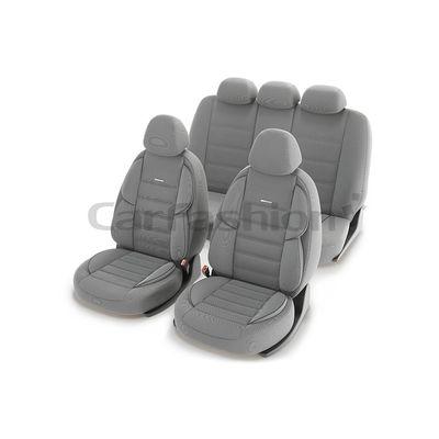 Чехлы на автомобильные сиденья GROSS комплект, трикотаж, светло-серый, светло-серый, тёмно-серый