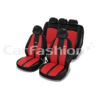 Чехлы на автомобильные сиденья MAJOR комплект, экокожа/жаккард, красный, чёрный, красный, чёрный