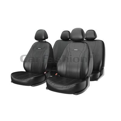 Чехлы на автомобильные сиденья TILTAN комплект, экокожа, чёрный, чёрный, чёрный