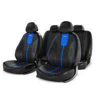 Чехлы на автомобильные сиденья GALS комплект, экокожа, синий, чёрный, синий