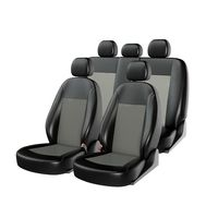 Чехлы на автомобильные сиденья ATOM LEATHER комплект, экокожа, чёрный, серый, серый