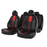 Чехлы на автомобильные сиденья GALS комплект, экокожа, красный, чёрный, красный