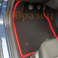 Коврики ЕВА 3D БОРТ в салон для MAZDA 6 GH1 GH2 2007-2012, EVA, Красный кант