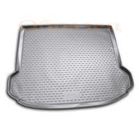 Коврик в багажник для SKODA RAPID 2013- ЛИФТБЕК СЕДАН, с ушами, полиуретан, чёрный