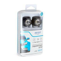 Габаритные автомобильные огни светодиодные Ф25мм, 12В, 1Вт, навесные, 2шт.