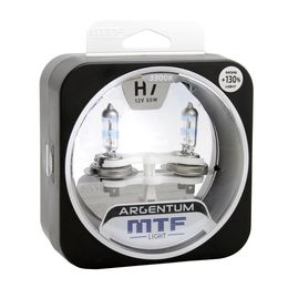 Галогенные автолампы H7 12V 55W ARGENTUM +130% комплект